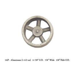 Unmachined Aluminium  FWC-5AP Flywheel 1 7/8 inch DIa x 7/8 W X 5/8 Hub Dia